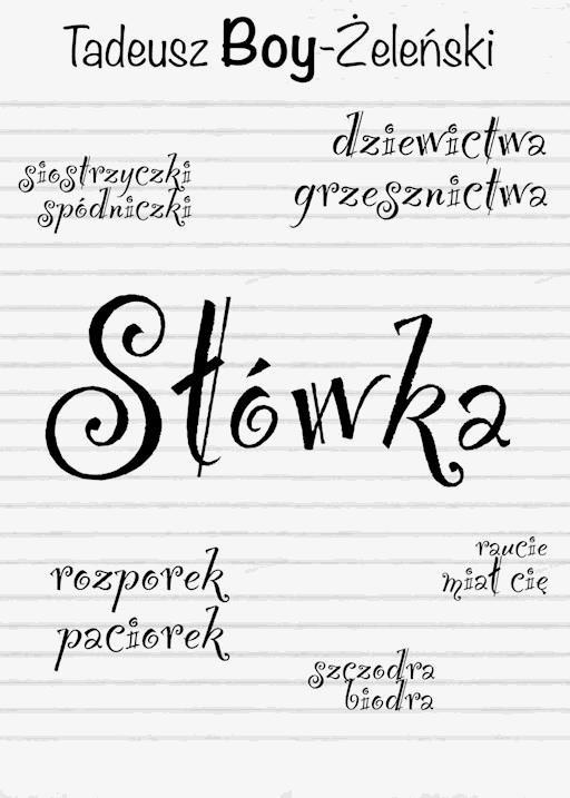 Słówka Tadeusz Boy żeleński Ebook Legimi Online