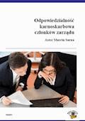 Odpowiedzialność karnoskarbowa członków zarządu spółki zo.o. - Marcin Sarna - ebook